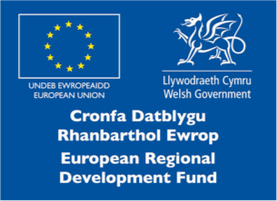 Welsh European Regional Development                         Fund Logo